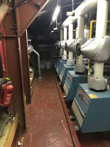 Image showing access into plantroom is restricted by boilers